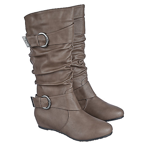 shiekh candies 15d s taupe mid calf boot shiekh shoes