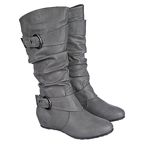 shiekh candies 15 grey mid calf boots shiekh shoes