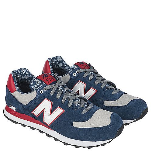 New Balance Navy Grey Red White Men s Running Shoe 574 adc157939a2