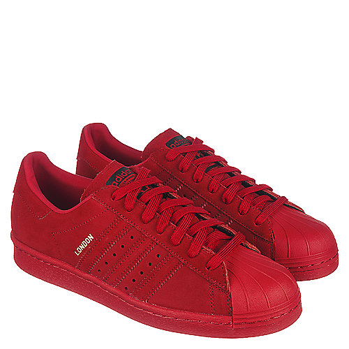 adidas Superstar 80s City Series Men s Red Casual Lace Up Sneaker ... 6e909f3b313