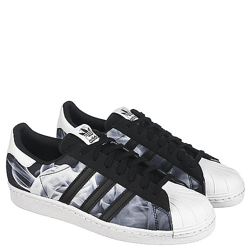 adidas Superstar 80s Women s Black Casual Lace-Up Shoe  d59d2cf002