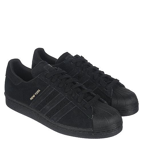adidas superstar degli anni '80 città serie uomini neri merletto scarpe casual
