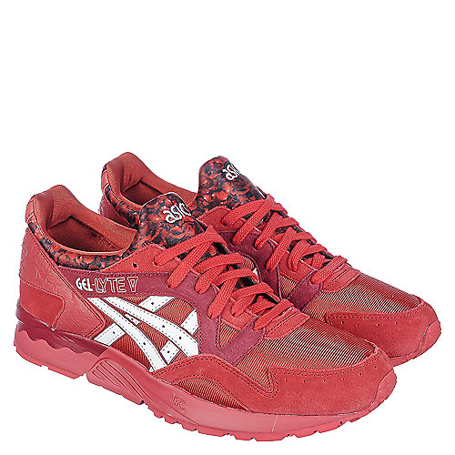 asics gel lyte v men s red casual lace up sneaker shiekh shoes rh shiekhshoes com