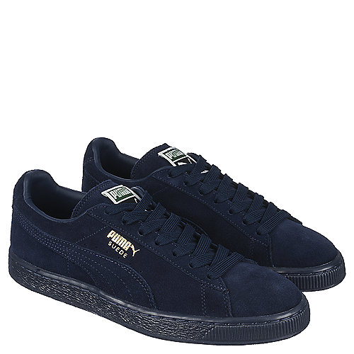 Puma Suede Classic + ICE Men s Navy Casual Lace-up Shoe  33ea24ab6