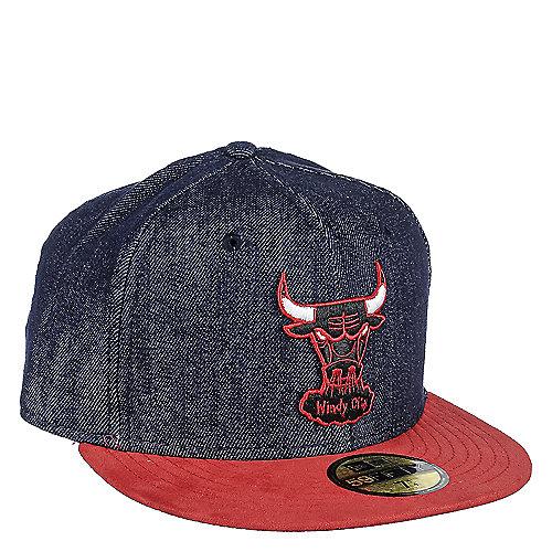 New Era Chicago Bulls Denim Fitted Cap  3b7980da7a8