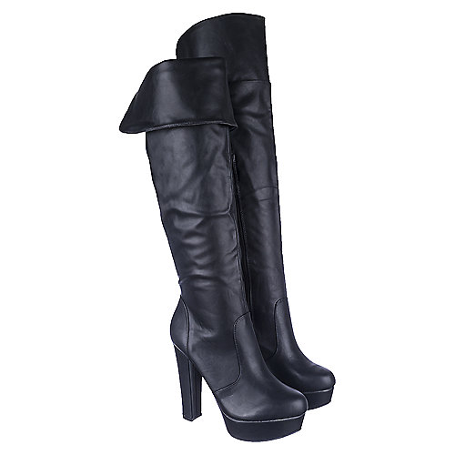 bamboo archer s black knee high boots shiekh shoes