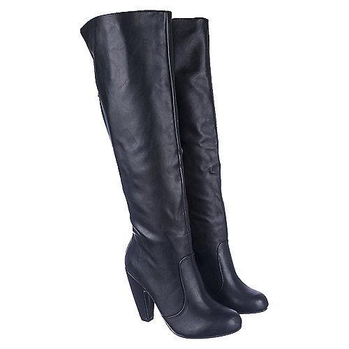 Bamboo Mozza-04 Women's Black Knee-High Boots | Shiekh Shoes