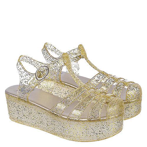 55ce1eb79c6 Shiekh Disco-01 Women s Gold Platform Jelly Sandal