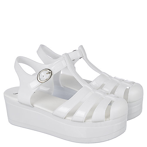 cfab3978458f Shiekh Disco-01 Women s White Platform Jelly Sandal