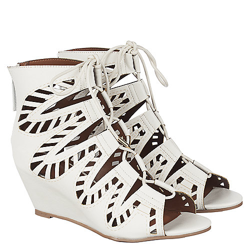 2fdaff6c0aa Shiekh Couture Women s White Low Heel Wedge Shoe