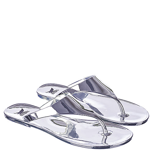 6fd6d010b150 Shiekh So Love Women s Silver Thong Sandal