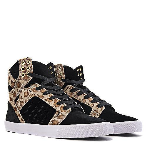 Supra Black Leopard Print Women s Skytop Casual Lace-up Sneaker c9dd8d7ec3