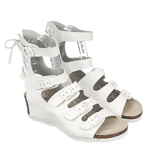 White Women's Piper-1A Lace-Up Sandal at Shiekh Shoes in Los Angeles, CA | Tuggl