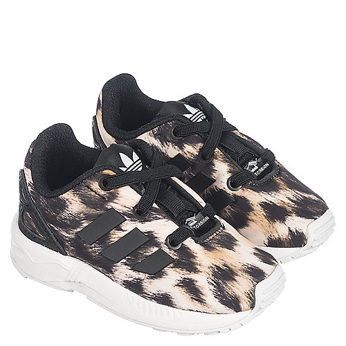 2a5bf7963bd1 adidas ZX Flux Toddler Leopard Tennis Shoe