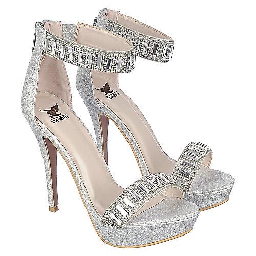 612596dd5e68 Shiekh Loretta-21 Women s Silver High Heel Shoes