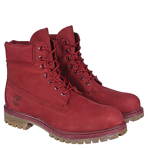 Timberland 6 IN Prem Men's Red Casual Lace Up Boots ...