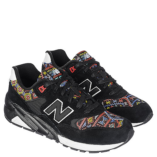 new balance 580 aztec women 39 s black athletic running shoes. Black Bedroom Furniture Sets. Home Design Ideas