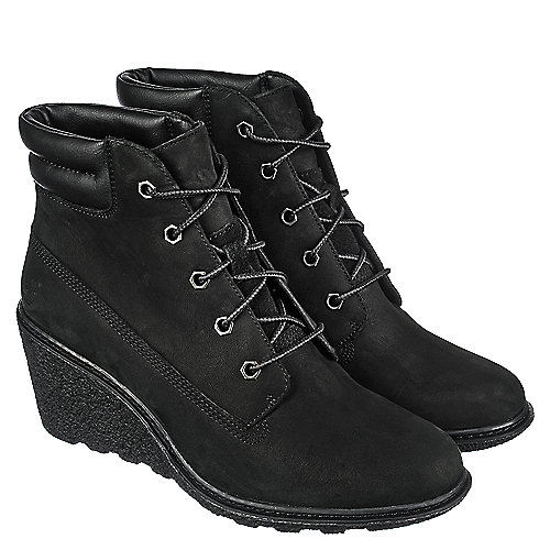 Timberland Black Women s Wedge Ankle Boot Amston 6IN d697a5c926