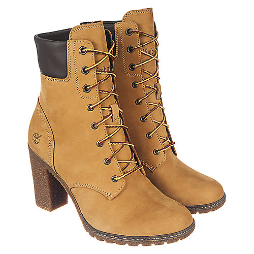Timberland Glancy 6 IN Women s Tan Low Heel Ankle Boots  155eccb499