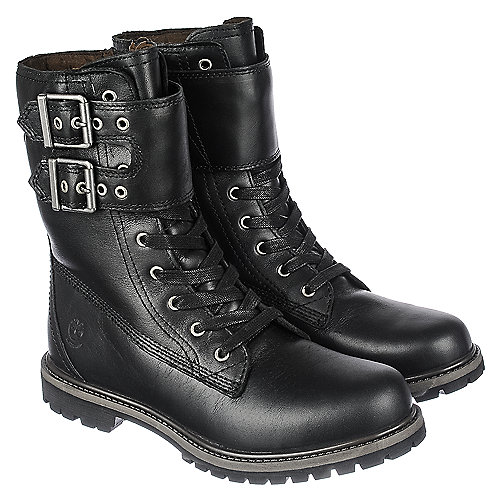 Timberland 8IN Double Strap Women's Black Mid-Calf Boot | Shiekh Shoes