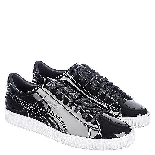 c6f6fe28cee861 Puma Basket Classic Patent Men s Black Casual Lace Up Sneaker ...