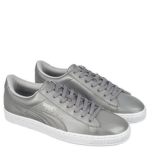Puma Basket Reflective Men s Silver Casual Lace Up Sneaker  cbde350f1