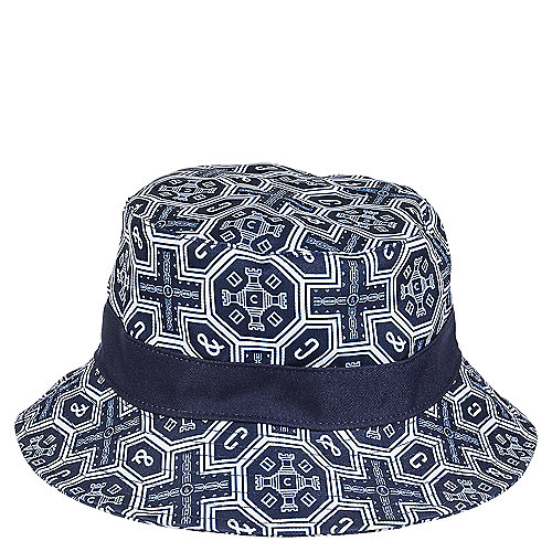 e1388d2b1ef41 Crooks   Castles Woven Reversisble Bucket Men s Navy Hat