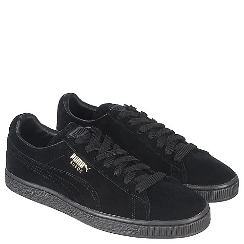 Puma Suede Classic + Mono ICE Men s Black Casual Lace-up Shoe ... d52d65539