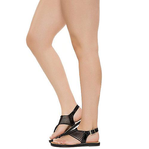 51e8c10d2b9 Shiekh Jeset-S Women s Black Thong Sandal
