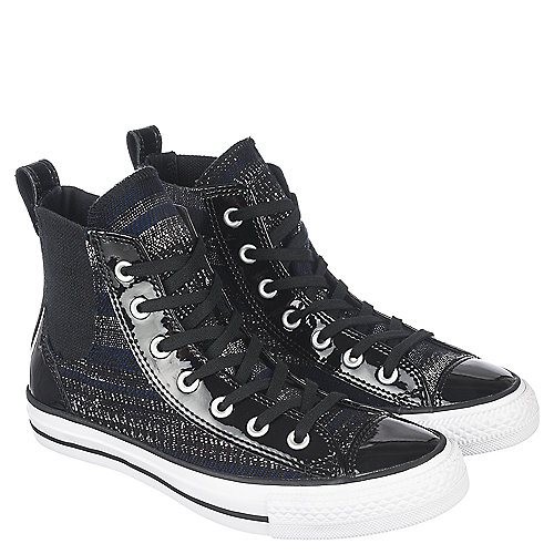 387cbb456138 Converse Black Grey White Women s CT Chelsee Hi Casual Sneaker