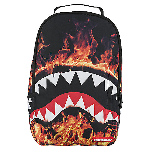 Sprayground Fire Shark Multi Color Backpack Shiekh Shoes