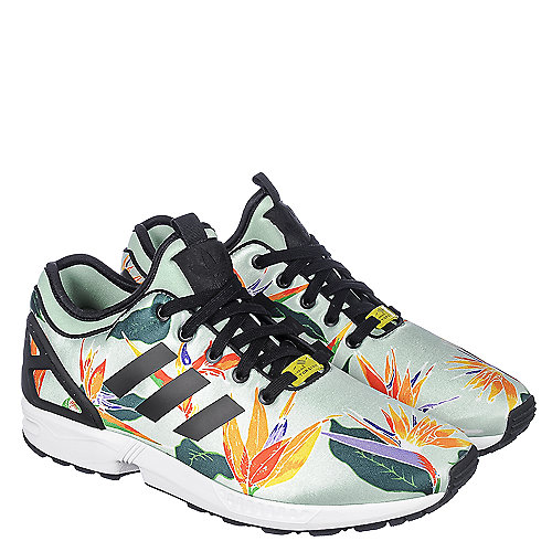 f2fc9dd8b adidas. Floral Green Multi Men s Athletic Running Sneaker ZX Flux NPS