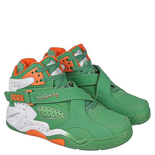 e3028dc5cad3 Green Orange White Men s Basketball Sneaker Ewing Rogue St. Patrick s Day