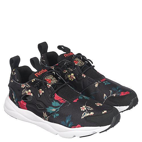 8b1f1acaf6a Reebok FuryLite SR Womens Black Floral Athletic Running Shoe ...
