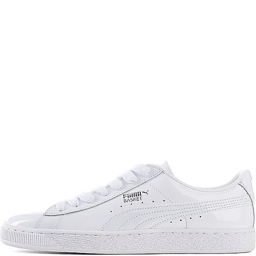 24475e2f15ab Puma Basket Matte   Shine Men s White Casual Lace Up Sneaker ...