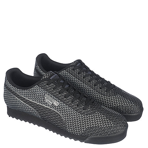 5e0ad3cc7e9f Puma Roma Woven Mesh Men s Black Casual Lace-up Sneaker