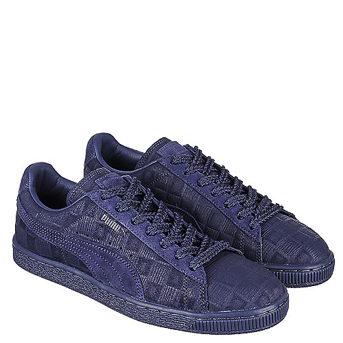 cd3f3f027db Puma Solange Suede Classic Squares Women s Navy Blue Casual Lace-Up ...