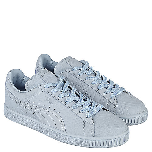 Puma Solange Suede Classic Squares Women s Light Blue Casual Lace-Up ... 63825a39d