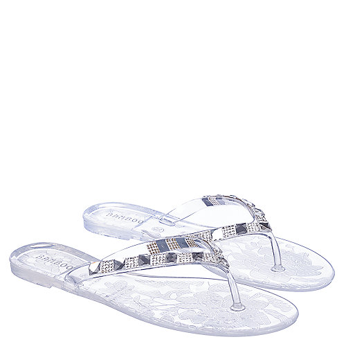 36a82b65e Clear Women s Hawaii-43 Flip Flop Thong Sandal