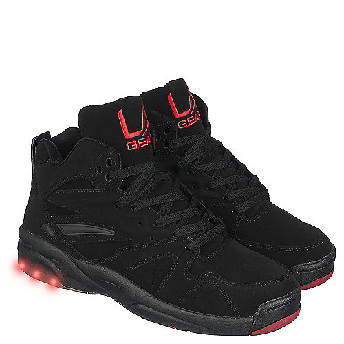 l a gear la lights s black athletic lifestyle sneaker