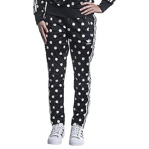 4538feb1acb3 adidas. Black White Women s Track Pants Slim Supergirl