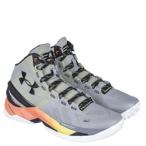 aff38ba25f8b Grey Black Orange Men s Athletic Basketball Sneaker Curry 2