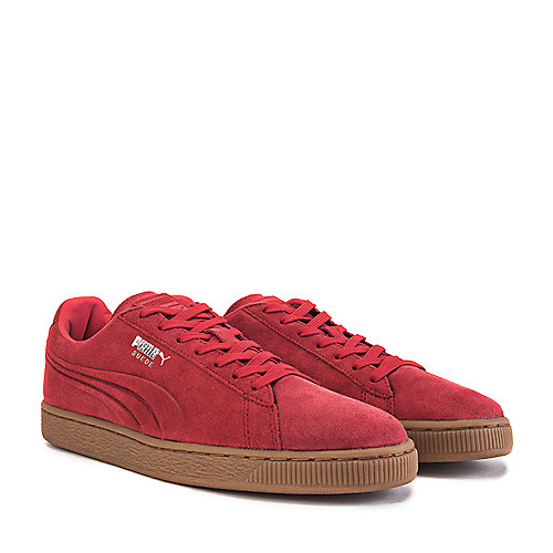 91556cbc894302 Puma Red Men s Casual Sneaker Suede Emboss