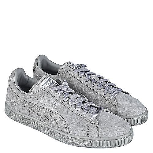 Puma Grey Women s Casual Sneaker Suede Classic Matte   Shine 766da114d