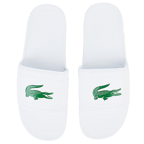 18003e5394c3 Lacoste White Green Men s Fraisier Slide