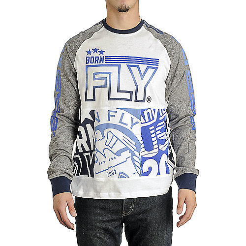 Born Fly Long Sleeve Graphic Men s White Tee  f51ca6dcc94
