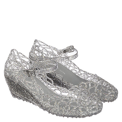 47bfe869acd3 Wild Diva Olsens-01 Women s Silver Glitter Casual Wedge Shoe ...
