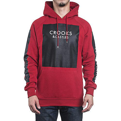 0f2221d32081c9 Crooks   Castles True Red Men s Hooded Sweater Thief