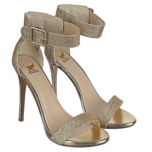 ccec9e4b6d8a Shiekh Canter-H Women s Gold High Heel Glitter Dress Shoe