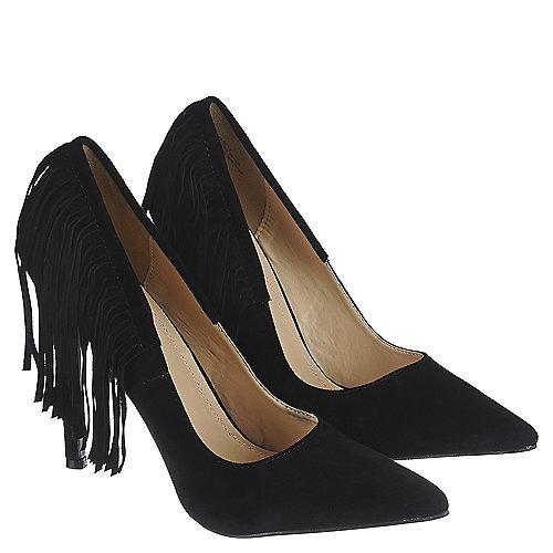 588f5d3dc7d Women s Fringe Black High Heel Plaza-5